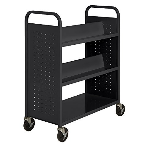 Sandusky Lee SV336-09 Double Sided Sloped Shelf Welded Book Truck, 19
