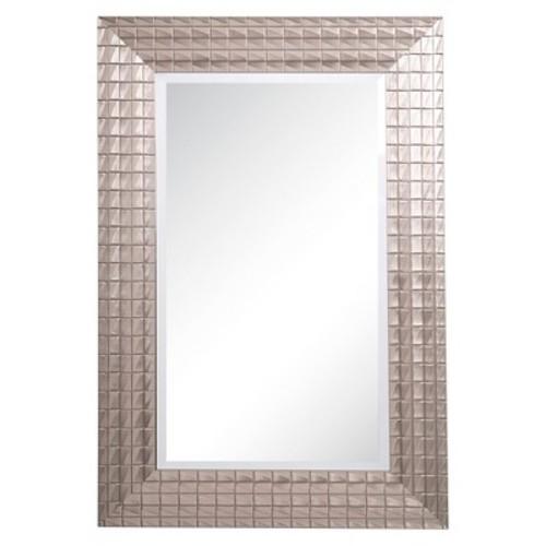 Rectangle Decorative Wall Mirror with Silver Patina Tones - Yosemite Home Decor