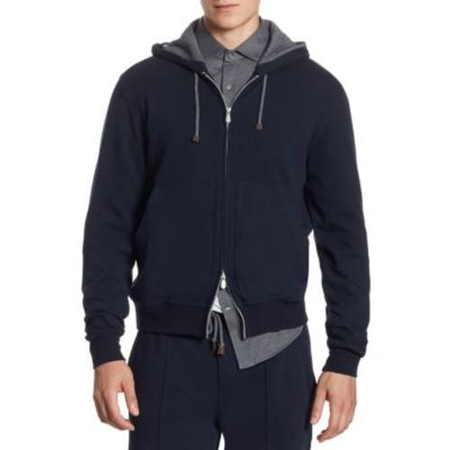 Two-Way Zip Sweatshirt