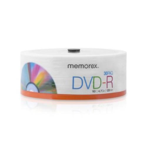 Memorex 16x 4.7GB DVD-R Spindle, 30-Pack