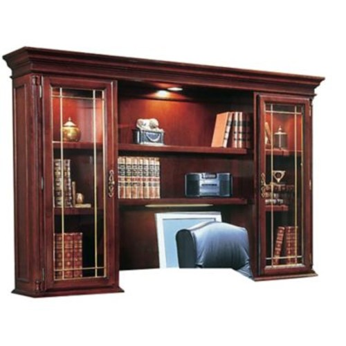DMI Office Furniture Keswick 799064 2-Cabinet Executive Overhead Storage, Glass Doors