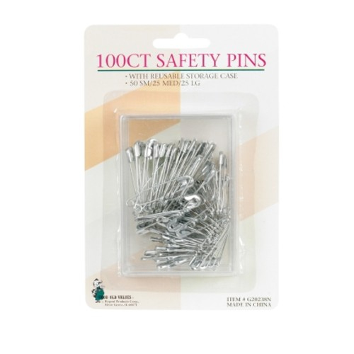 Good Old Values Safety Pins 100 pk(G20238N)
