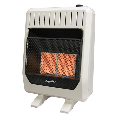 Reddy Heater 20,000 BTU Unvented Infrared Natural Gas Wall Heater with Thermostat and Blower