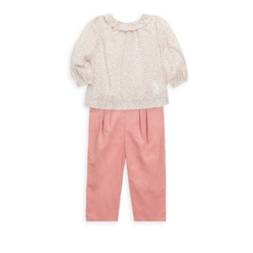Baby's Two-Piece Floral Top and Pants Set