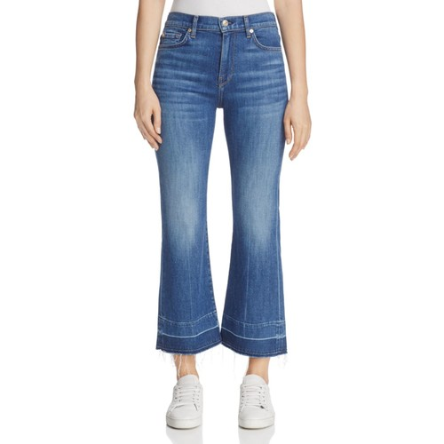 7 FOR ALL MANKIND Ali Crop Flare Jeans In Sunrise