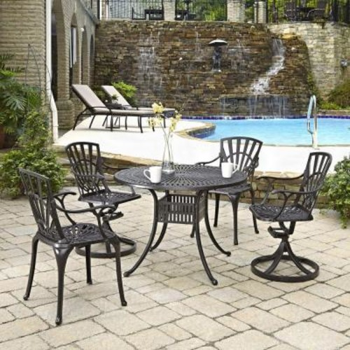 Home Styles Largo 42 in. 5-Piece Patio Dining Set