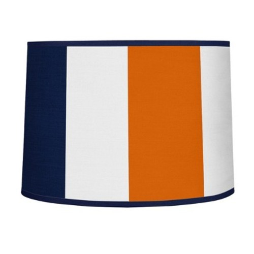 Sweet Jojo Designs Navy Blue and Orange Stripe Collection Lamp Shade