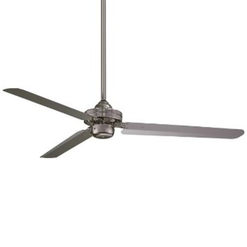 Steal Ceiling Fan [Fan Body and Blade Finish : Brushed Nickel]