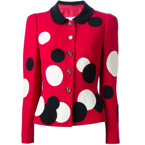 MOSCHINO VINTAGE Polka Dot Skirt Suit