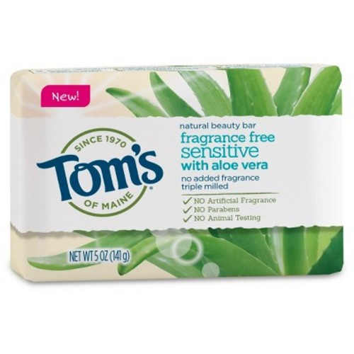 Tom's of Maine Fragrance Free Sensitive Natural Bar Soap - 5oz