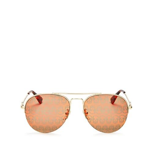 GUCCI Mirrored Skulls Aviator Sunglasses, 56Mm