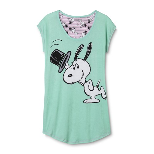 Peanuts By Schulz Snoopy Women's Plus Sleep Shirt