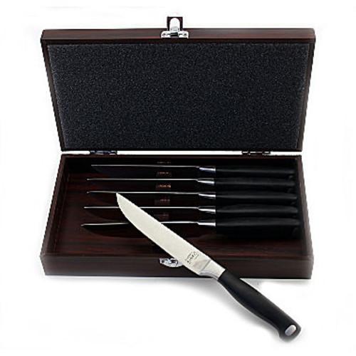 BergHOFF Bistro Steak Set w/ Wooden Case 6pc