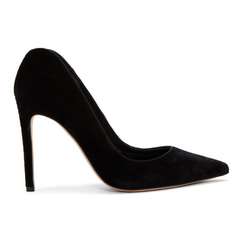 Black Velvet Pointed Heels