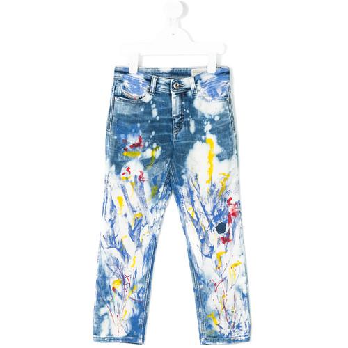 paint splash jeans