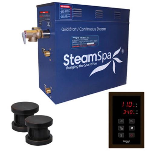 SteamSpa Oasis 10.5 KW QuickStart Steam Bath Generator Package in Oil Rubbed Bronze