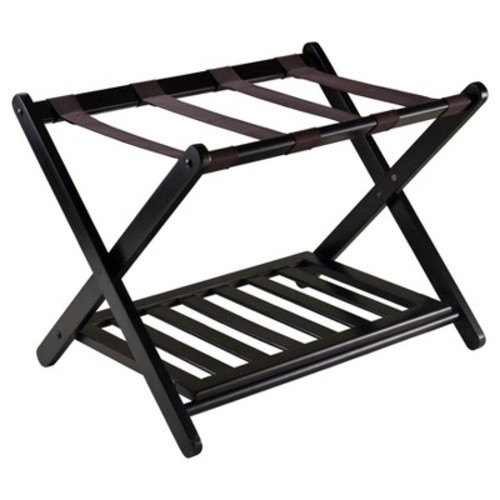 Winsome Wood Reese Luggage Rack with Shelf [Espresso]