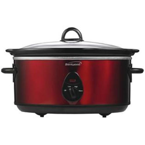 Brentwood Appliances SC-150R 6.5 Quart Slow Cooker (Red)