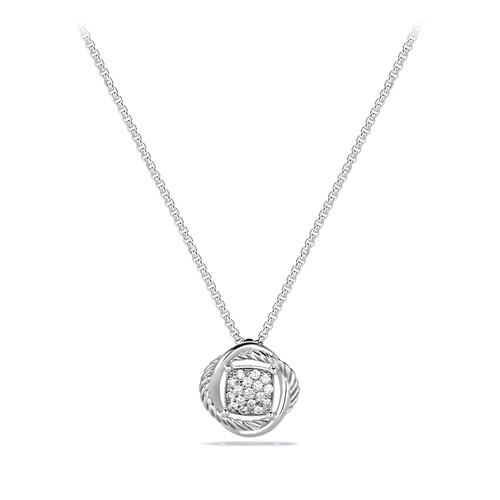 Infinity Pendant with Diamonds on Chain