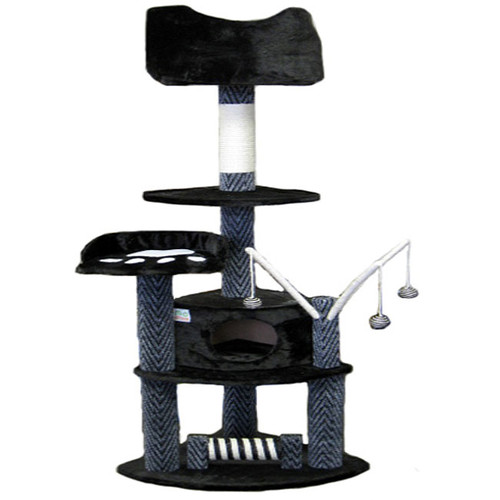 Go Pet Club 62-inch Cat Tree Furniture Condo Scratcher
