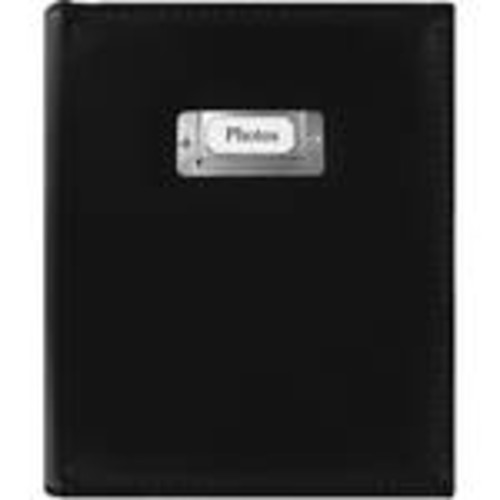 CTS-246 Sewn Photo Album with Silver ID Cover (Black)