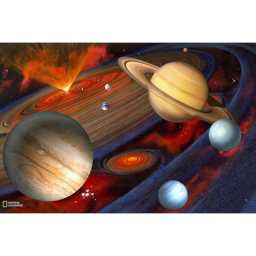 Brewster National Geographic Kids NG94613 Planets Wall Mural, 72-Inch x 48-Inch [White]