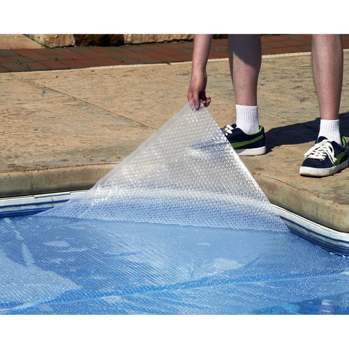 Blue Wave NS488 12-mil Solar Blanket for Round Above-Ground Pools, 28-ft, Clear