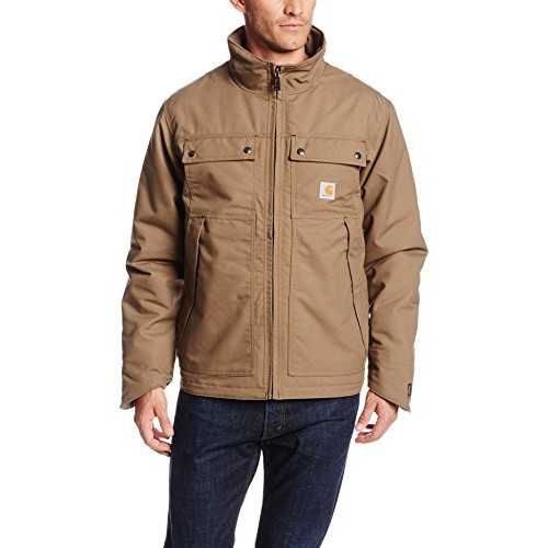 Carhartt Men's Big & Tall Quick Duck Jefferson Traditional Jacket,Canyon Brown,Large Tall