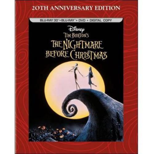 The Nightmare Before Christmas (20th Anniversary Edition) (3D Blu-ray + Blu-ray + DVD + Digital Copy) (Widescreen)