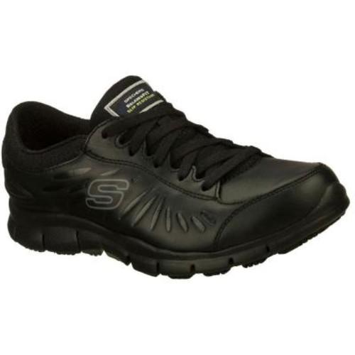 Skechers Eldred Women Size 6 Black Leather Work Boot