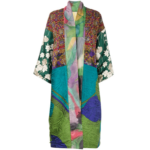 Multi-Print Reversible Kimono Jacket
