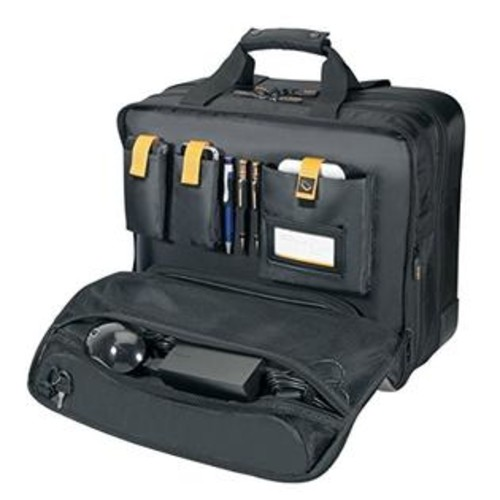 Targus CityGear Rolling Travel Case for 17-Inch Notebooks, Black/Yellow (TCG717)