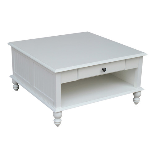 International Concepts Cottage Square White Coffee Table