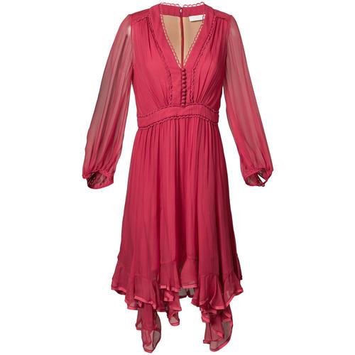 CHLOÉ Ruffle-Hem Dress