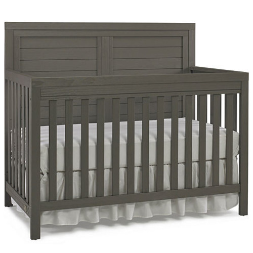 Ti Amo Castello 3-in-1 Convertible Crib - Grey