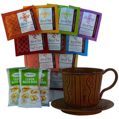 Art of Appreciation Gift Baskets Gourmet Food Baskets 'A Cup of Cheer' Organic All-natural Tea Gift Basket