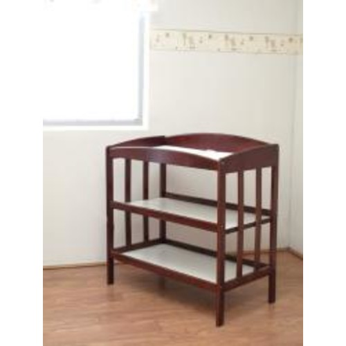 Wooden Changing Table in Espresso