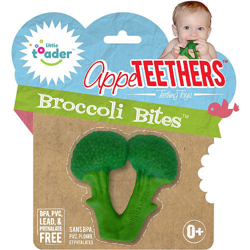 Little Toader AppeTEETHERS Broccoli Bites Teething Toy