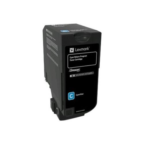 Lexmark Cyan - original - toner cartridge LCCP, LRP - for CS720de, CS720dte, CS725de, CS725dte, CX725de, CX725dhe, CX725dthe (74C10C0)