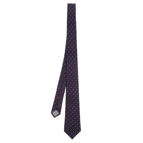 Polka-dot jacquard wool and silk-blend tie