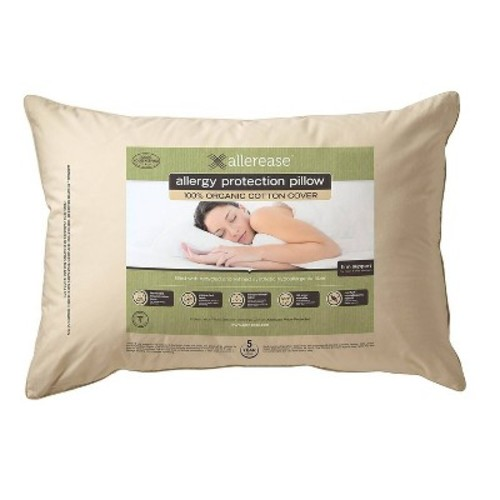 AllerEase Organic Cotton Cover Allergy Protection Pillow