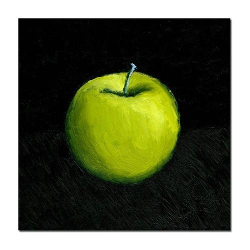 Trademark Global Michelle Calkins 'Green Apple Still Life' Canvas Art [Overall Dimensions : 18x18]