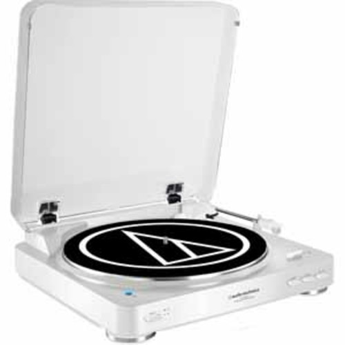 Audio-Technica Fully Automatic Wireless Belt-Drive Stereo Turntable with Bluetooth - White