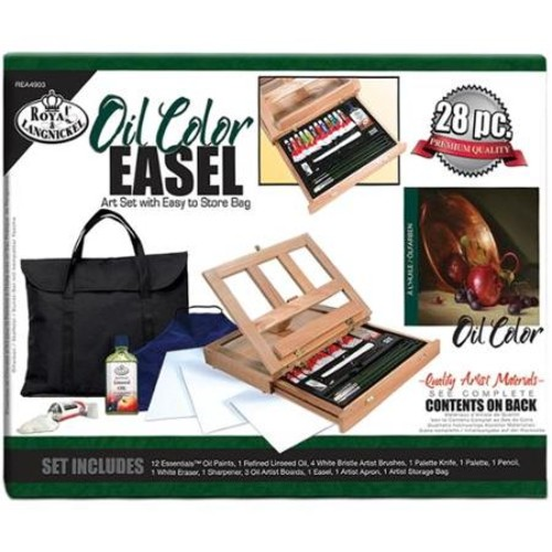 Easel Art Set With Easy To Store Bag-Oil Color