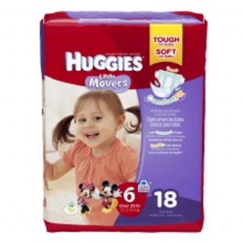 Huggies Little Movers Diapers, Jumbo Pack Size 6