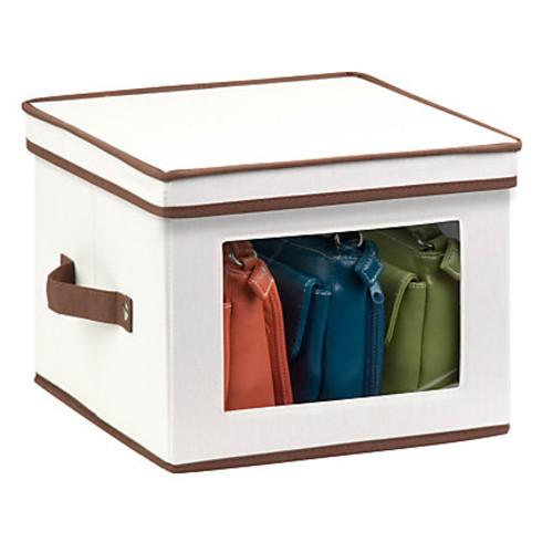 Honey-Can-Do Canvas Dinnerware Storage Box, Medium, 8 1/2