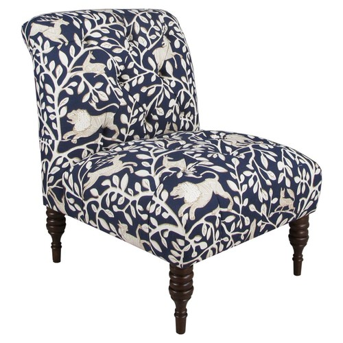 Eloise Tufted Slipper Chair, Pantheon