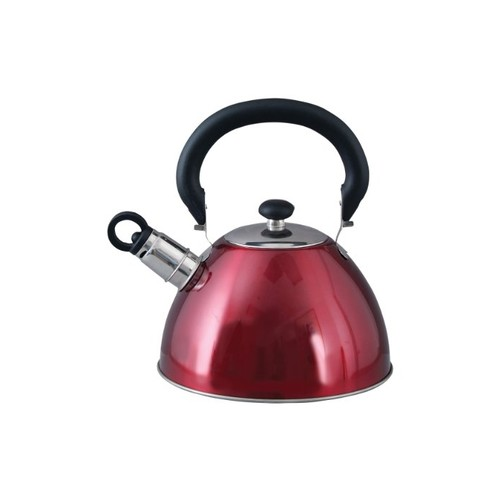 Mr. Coffee Whistling Tea Kettle, 1.8-Quart, Red