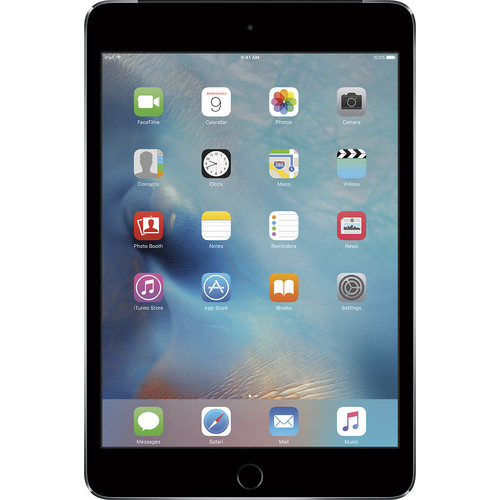 Apple - iPad mini 4 Wi-Fi + Cellular 128GB - Space Gray