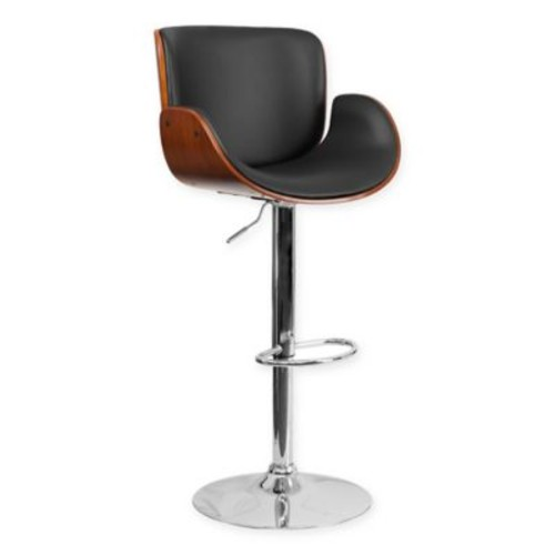 Flash Furniture Curved Seat and Mid-Back Bar Stool